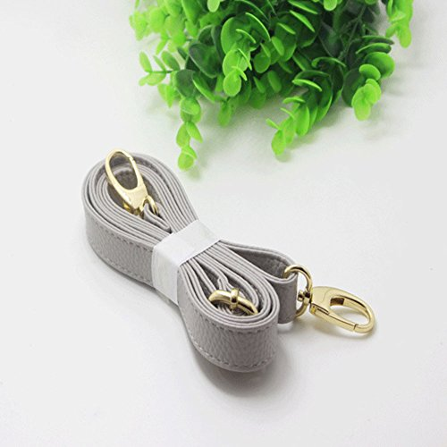 Handbag Bag Strap White Imitation Litchi Handle Leather Light Pattern Tookie Adjustable Bag Straps Strap Shoulder Crossbody Grey Shoulder Replacement Single n6RfqTPx