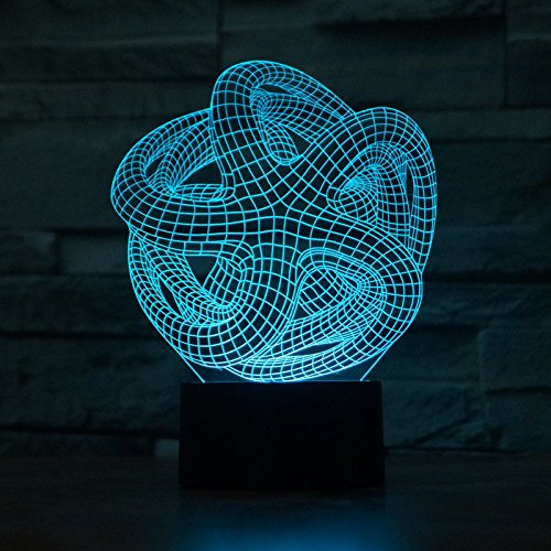 Comics+3D+Night+Lamp+ Products : Abstract 3D Led Night Light Acrylic Desk Lamp Touch Swithch 7-Color Xmas Gift