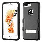 Apple iPhone 7 PLUS Case, Tuff Metal Stand Cover for Apple iPhone 7 PLUS with Stylus Pen ApexGears (TM) Black