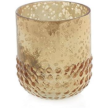 Amazon Mercury Glass Votive Candle Holder Hobnail Vase 3in
