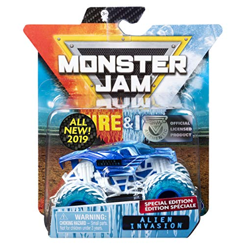 MJ 2019 Monster Jam Fire & Ice Alien Invasion Special Edition 1:64 Scale