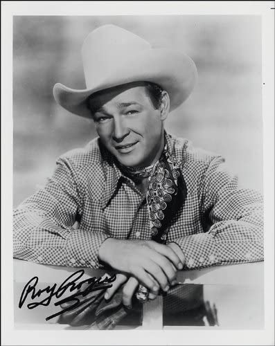 ROY ROGERS SIGNED PHOTO PRINT APPROX SIZE 12X8 INCHES