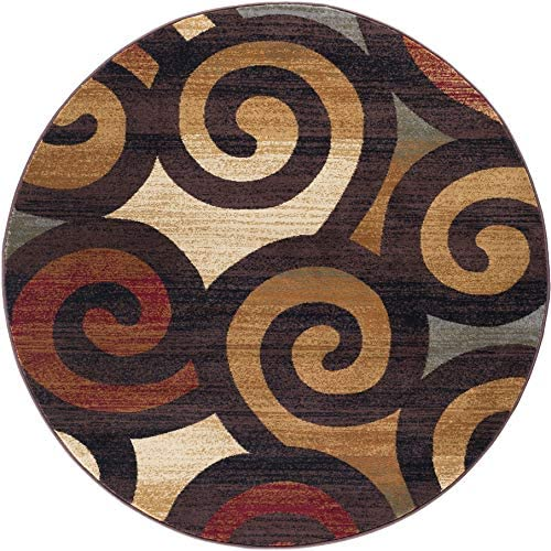 Tayse Carley Multi-Color 6 Foot Round Area Rug