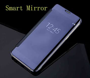 Galaxy S8 Case, Translucent Window View Flip Cover, Shiny Plating Make Up  Mirror, TAITOU Smart Sleep/Awake Hard Coque For Samsung Galaxy S8, Scan QR