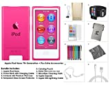 Apple 8th Gen 16GB iPod Nano Bundle with Accessories, Pink (9 Items)