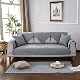 OstepDecor 100% Cotton Quilted Sofa Furniture