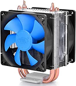 DEEPCOOL ICE BLADE 200M CPU Cooler Dual 8mm Heatpipes 2x 92mm Fans INTEL/AMD AM4 Compatible