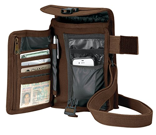 Canvas Heavyweight Belt - Rothco Canvas Travel Portfolio, Earth Brown
