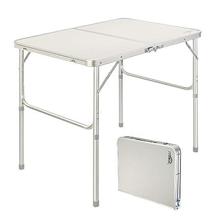 Amazon.com: VINGLI - Mesa de picnic plegable de 3 pies con ...