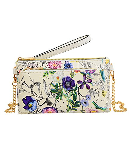 Mellow World Floral Bag (Mellow World Evie Floral Wristlet -multi) by Mellow World