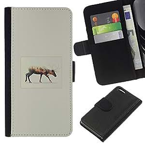 YiPhone /// Tirón de la caja Cartera de cuero con ranuras para tarjetas - Elegante P0kemon - Apple Iphone 5C
