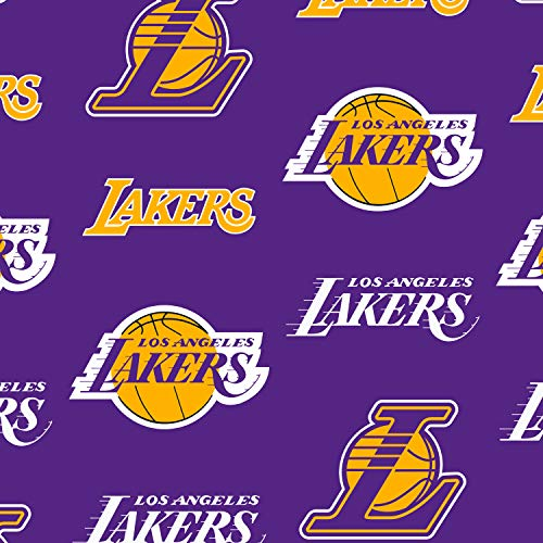 - Fleece Los Angeles Lakers Purple NBA Basketball Sports Team Fleece Fabric Print by The Yard A609.25