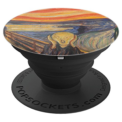 Masterpiece Collection Pedestal - The Scream Fine Art Masterpiece Painting Cool Art - PopSockets Grip and Stand for Phones and Tablets
