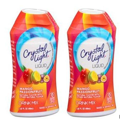2 pack Crystal Light Mango Passionfruit Liquid Drink Mix 48 servings (1.62 fl oz x 2 = 3.24 oz)