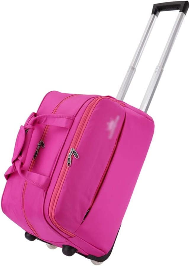 Color : Pink, Size : 552836cm Travel Bags Short-Distance Business Trip Boarding Package Student Baggage Trolley Case Luggage Suitcases Carry On Hand Luggage Durable Hold Tingting