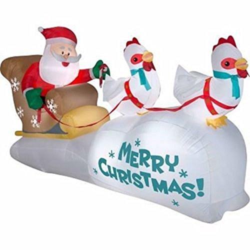 Outdoor Lighted Santa Sleigh Reindeer in US - 8