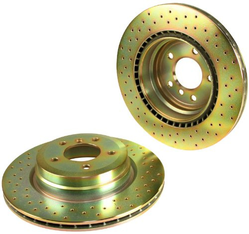 Brembo North America Brake Disc Set Cross Drilled Sport Drilled