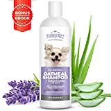 2-in-1 Oatmeal Dog Shampoo and Conditioner - All Natural Relief for Itchy, Dry, Sensitive Skin with Soothing Aloe Vera + Baking Soda + pH balanced. Get Smelly Dogs Coat Fresh and Moisturized, 16 oz