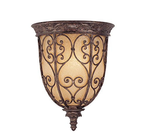 Savoy House 9P-50037-1-56 Sconce with Cream Scavo Shades, Brown Tortoise Shell - Tortoise Finish