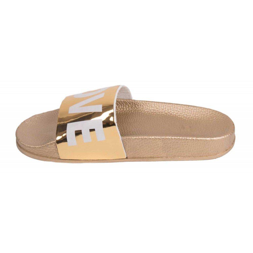 88dfa17096d9a Primtex Claquette Love doré Type Mule Femme dorée Caoutchouc-: Amazon.fr: Chaussures  et Sacs