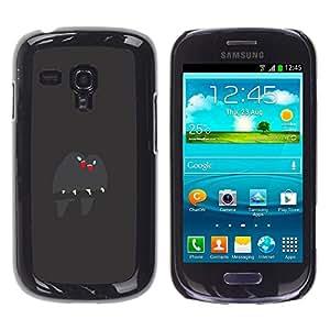 Shell-Star Arte & diseño plástico duro Fundas Cover Cubre Hard Case Cover para Samsung Galaxy S3 III MINI (NOT REGULAR!) / I8190 / I8190N ( Cute Birds Branch Grey Beak Love )