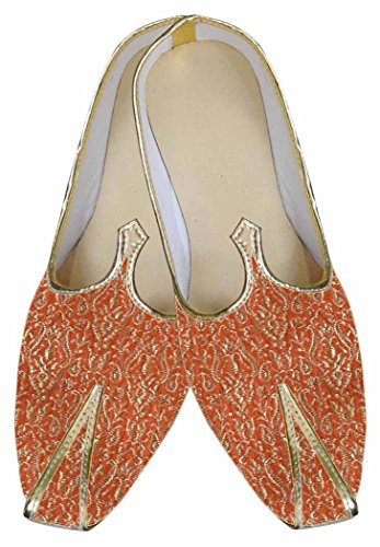 MJ0008 Zapatos Naranja Boda Hermosa de INMONARCH Hombres w5BqA6YY