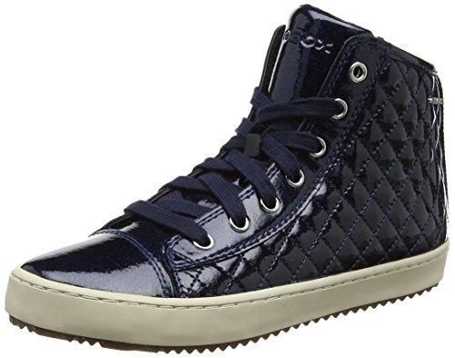 Geox J Kalispera F, Zapatillas Altas Para Niñas Azul (Navy)