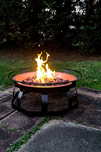 Camco 51200 29 Inch Portable Deluxe Outdoor Fire Pit 65 000 Btu S Includes 10 Foot Propane Hose Lavorist