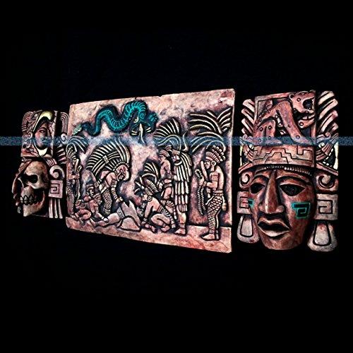 Mayan Wall Plaque Mask Head Maya Aztec Mexico Mexican Inca Pottery Art Calendar 037 ()
