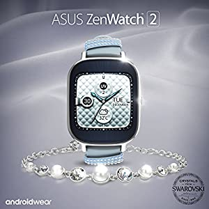 ASUS ZenWatch 2 Swarovski Special Edition 37mm Smart Watch with Quick Charge Battery, Swarovski Crystal Bracelet, 4GB Storage, 1.45-inch AMOLED TouchScreen, IP67 Water Resistant