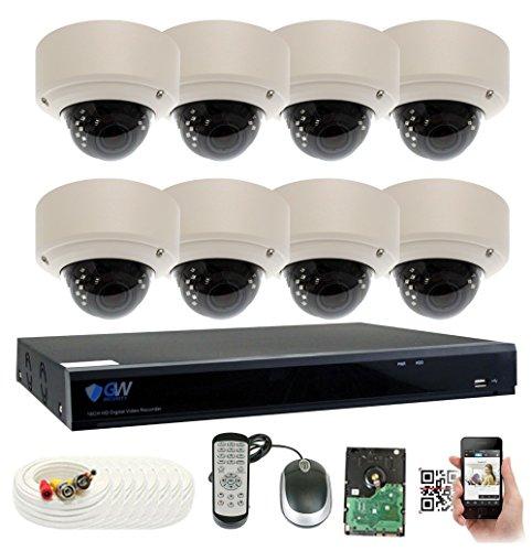 GW Security 8 Channel 5 Megapixel 5 in 1 DVR + 8 x HD-TVI 5MP