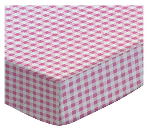 SheetWorld Fitted Cradle Sheet - Pink Gingham Check - Made In USA