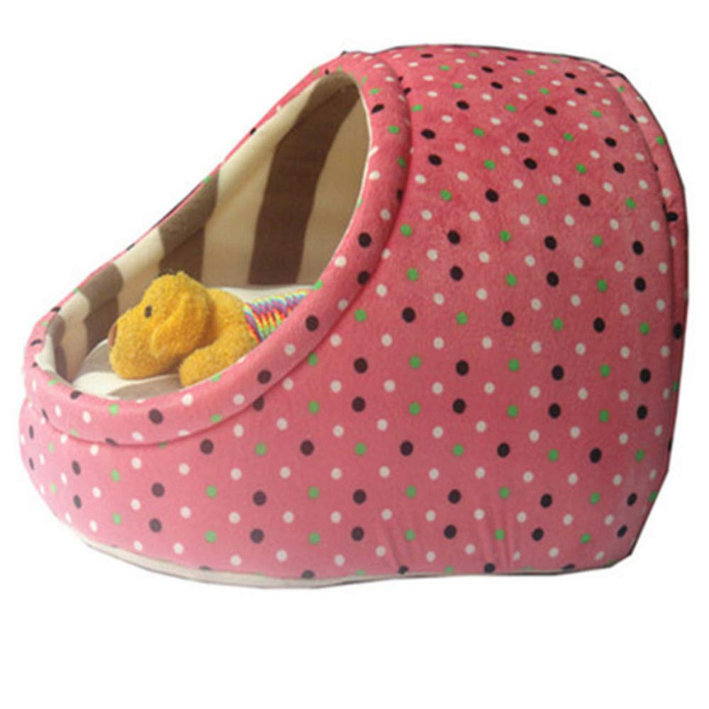 M Wuwenw Pet Bednew Cute Slippers Design Pet Nest Warm Washable Washable Doghouse Pink,M