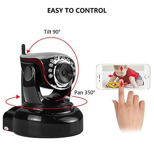 Wireless-IP-Camera-Nexgadget-720P-WiFi-Security-Camera-with-Two-Way-Audio-Motion-Detection-Built-in-Alarm-Jack-IR-CUT-Night-Vision-Baby-Pet-Video-Monitor-Nanny-Cam-Home-Surveillance-Camera-Black