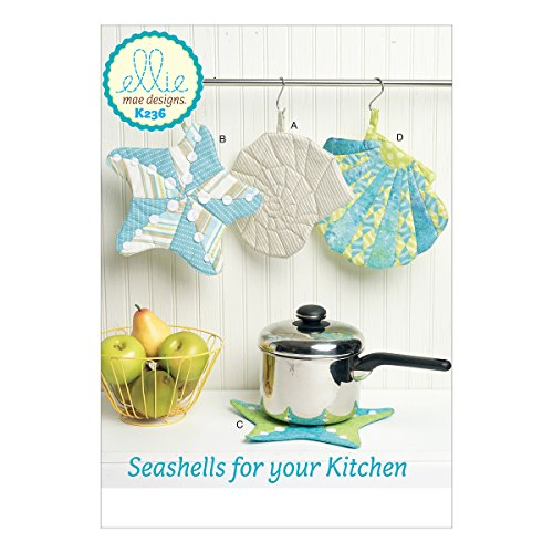 McCall's Patterns K0236OSZ Seashell Pot Holders Sewing Patterns, One Size ()