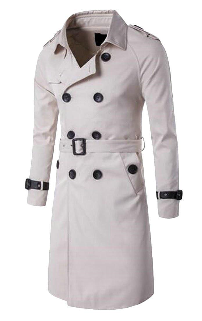1 MOUTEN Men's Regular Fit Double Breasted Casual Business Trench Coat Jacket Overcoat