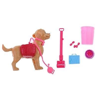 Sharplace Juguete Mini Perro con Aceesorios Surtidos para Muñecas Regalo pra Niños Aleatorio: Juguetes y juegos