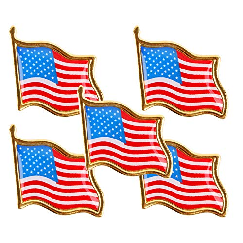 (Landisun American Flag Glory Lapel Pins US Flag 3 Dozen National Holidays Independence Day )