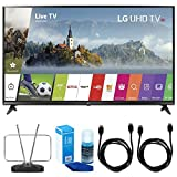 LG 43' UHD 4K HDR Smart LED TV - 43UJ6300 (2017 Model) w/ TV Cut The Cord Bundle Includes, Durable HDTV & FM Antenna, 2x 6ft. HDMI Cable & Screen Cleaner (Large Bottle) for LED TVs