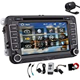 Car Stereo For VW Volkswagen Jetta Passat Tiguan Multi-Touch Screen Car DVD Player GPS Navigation Build-In Bluetooth,FM AM Radio, AUX&USB, iPhone/iPod Controls, Steering Wheel Control, Free Map