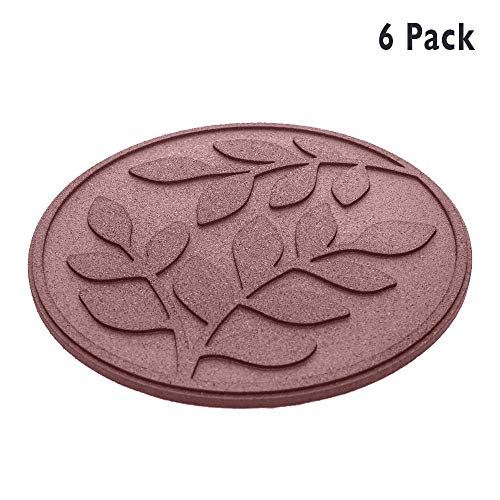 REVTIME Rubber Garden Stepping Stone with Olive Leaves Design 17-3/8