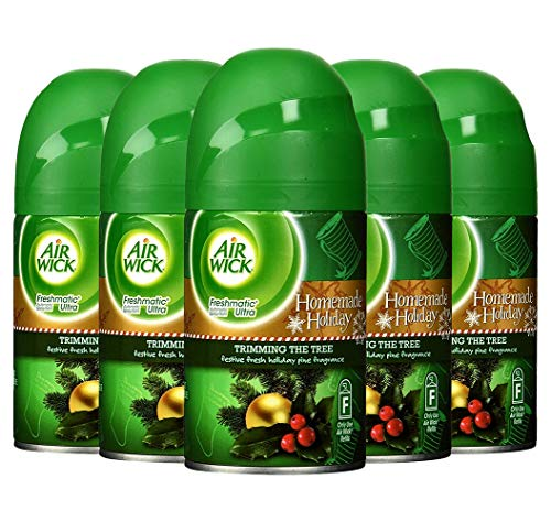 5 Air Wick Freshmatic Automatic Spray Air Freshener TRIMMING THE PINE TREE 6.17oz