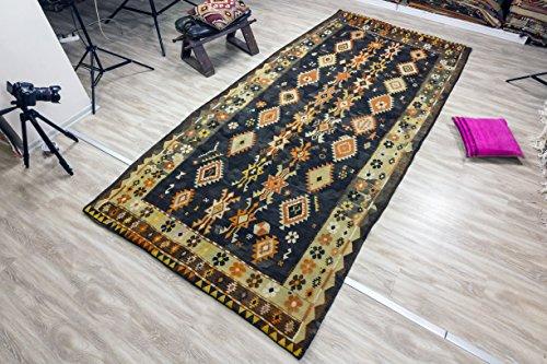 Vintage Kilim Rug 5.08x10.50 ft (155x320 cm)