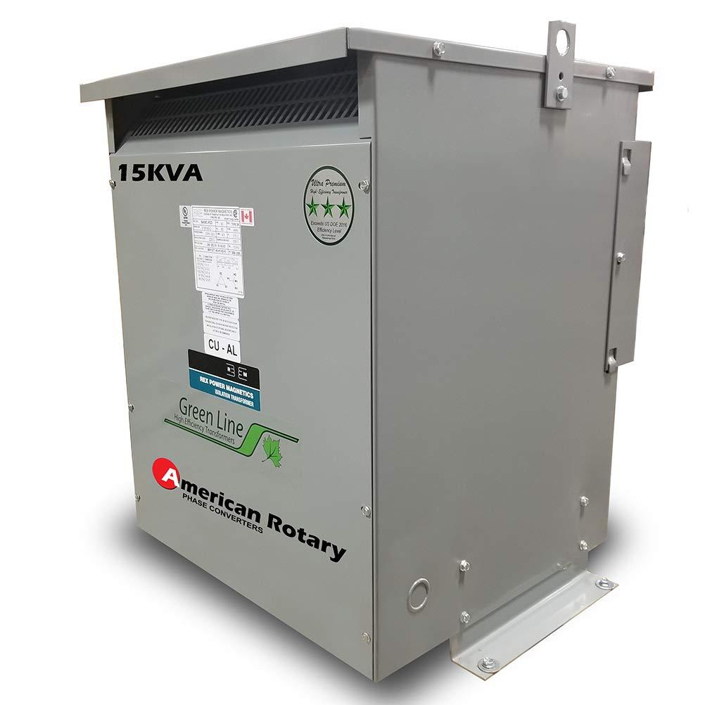 15 kVA 240D/480D Volt Primary to 480D/240D Volt Secondary 3 Phase Transformer