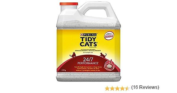 Purina Tidy Cats 24/7 perfumada Arena para gatos 3 x 6,35 Kg ...