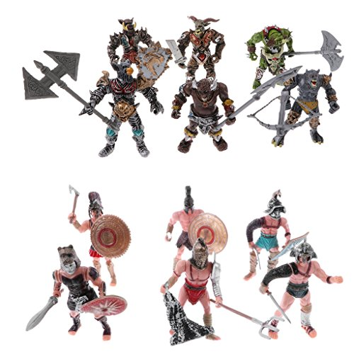 Perfk 全12点 兵士おもちゃ ローマ剣闘士 軍隊兵士模型 アクションフィギュア プレーセット コレクション
