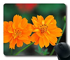 Mouse Pad Cosmos Sulphureus Flower Desktop Laptop Mousepads Comfortable Office Mouse Pad Mat Cute Gaming Mouse Pad