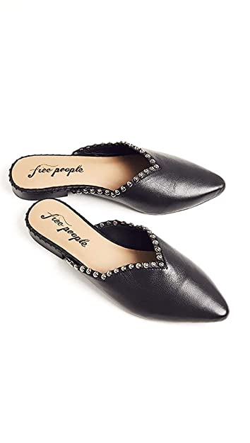 604e87adfef Amazon.com: Free People Studded Leather Newport Black Flat Slides: Shoes