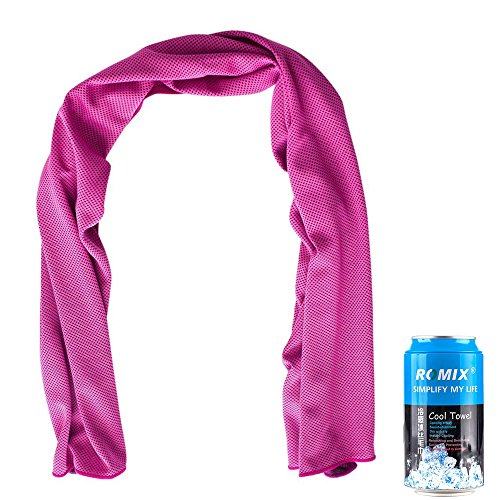 Cooling towel, Instant Cooling Neck Wrap, Ice Bandanas for Women, Ice Cold Scarf, Soft Cooling Towel for Neck,12x47
