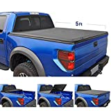 Tyger Auto TG-BC3T1530 TRI-FOLD Truck Bed Tonneau Cover 2016-2018 Toyota Tacoma | Fleetside 5' Bed | for Models with or Without The Deckrail System